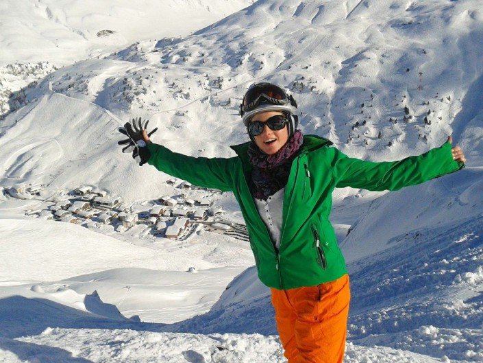 Welcome to Winter Picture Nicole Elsensohn - Hotel Enzian Zürs Lech