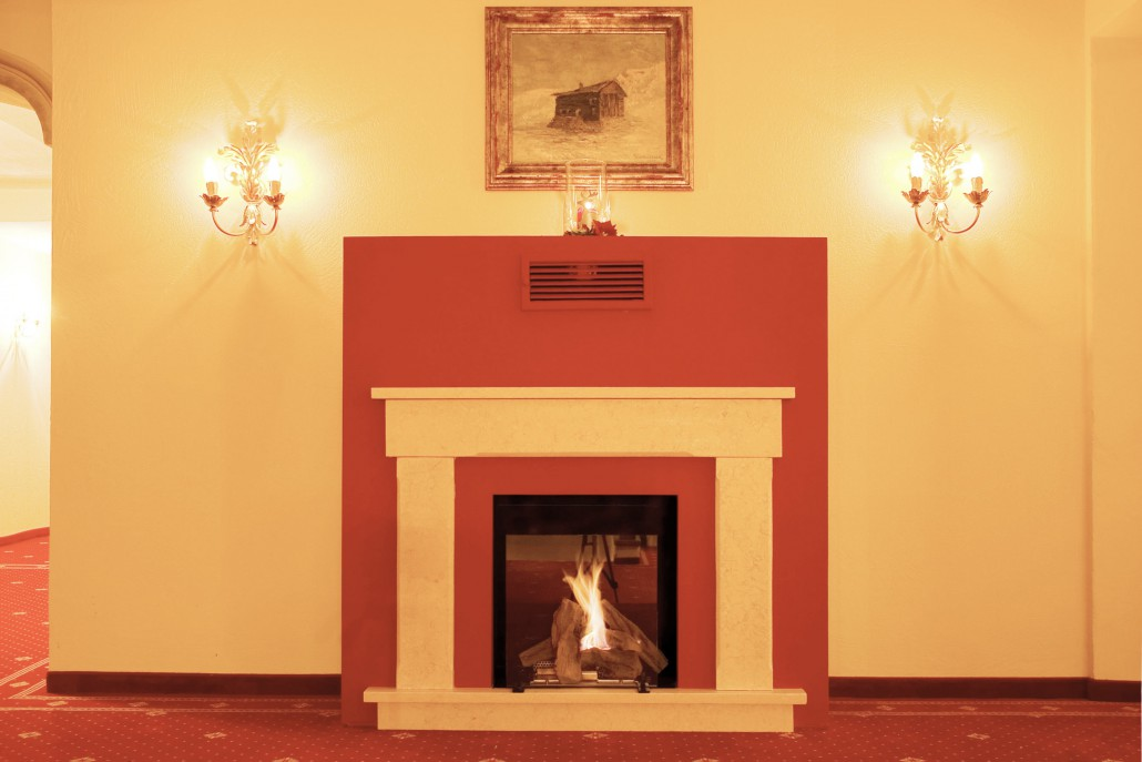 Warm ambience and fireplace in our hotel